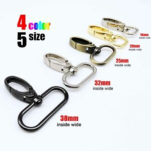 Swivel Leather Hand Bag Strap Belt Dog Chain Key Ring Clasp Clip Trigger Buckle