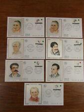 7 x FDC PREMIER JOUR FRANCE 24/04/1993 PERSONNAGES ECRIVAINS serie complete
