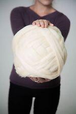 Chunky Wool Yarn. 23 microns. 100% wool. Arm Knitting. Wool Roving. Bulky Yarn