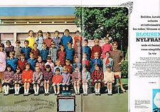 PUBLICITE ADVERTISING 065  1965  BLOUSENYL NYLFRANCE (2p)  tabliers enfants
