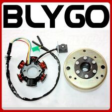 6 Pole Magneto Stator+ Flywheel GY6 125cc 150cc Quad Dirt Scooter Bike ATV Buggy