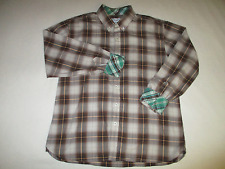 George & Martha Flip Cuff Multicolor Plaid Button Down L/S Shirt Mens XL