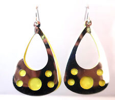 ELEGANT UNIQUE YELLOW SILVER EARRING BRAND NEW FAST DELIVERY STUNNING (A15)