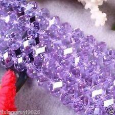 100pc Purple Crystal Gemstone Loose Beads 4x6mm