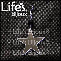 Orecchino Stella Star Simbolo Donna Ciondolo Plexiglass Pendente Specchio 4 cm