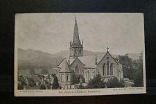 St John's Church, Keswick, Vintage RP Postcard Postmarked/Sent 1904- Extra Thick