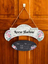 Custom Name Hospital Door Hanger Wood Baby Girl Sign Baby Girl Nursery Sign