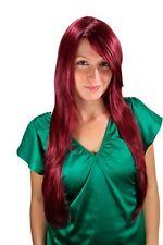 Perruque pour Femme Très Long Rouge Grenat Lisse Raie 75cm 3110-39