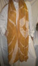 Big Gold Beige White Scarf Soft Polyester Geometric