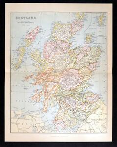 SCOTLAND 1887 William Mackenzie VICTORIAN MAP