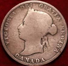1871 Canada 25 Cents Silver Foreign Coin