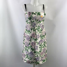 Dolce & Gabbana Ivory Floral Print Sleeveless Dress Size 8