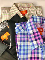 Men's Tallia Button Up Down Long Sleeve Shirt Size Medium 15 1/2 Lot of 3 VGUC