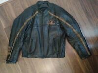 Leather Motorcycle motorbike Jacket Large L wolverine