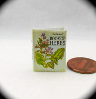 THE ILLUSTRATED BOOK OF HERBS Miniature Book Dollhouse 1:12 Scale Botanical