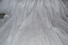 "White Embroidered Cotton Voile Floral Vine Burnout Stripe 57"" Wide Fabric BTY"