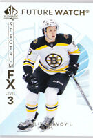 17-18 SP Authentic Charlie McAvoy Future Watch SPECTRUM Level 3 Rookie 2017