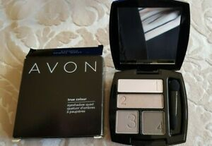 NEW - AVON 4 X EYE SHADOW QUAD COMPACT with MIRROR : TAUPE SHADES