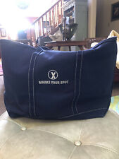 LL Bean Made In The USA Canvas Boat & Tote Bag Navy Blue NEW And Huge