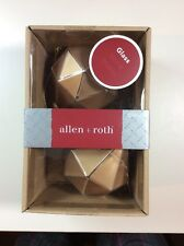 NEW NIB ALLEN ROTH PRISM CHRISTMAS ORNAMENT 0786076 Gold