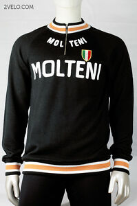 MOLTENI vintage style WOOL long sleeve jersey, new, never worn