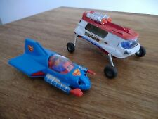 2 voitures miniatures corgy lunar bug & supermobile made in UK jouets anciens