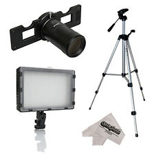 Opteka HD Slide Copier Studio Lighting Kit for Canon EOS Digital SLR Camera