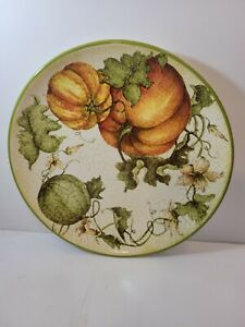 (Set of 4) Pier 1 Imports Harvest Garden Dinner Plates