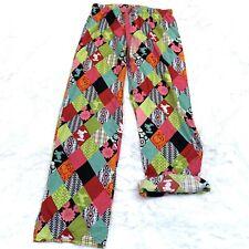 New listing Disneyland Resort Mickey Mouse quilt pattern pajama pants Adjustable Crop