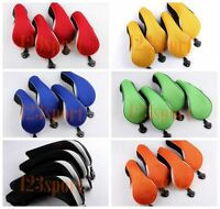 4Pcs Utility Golf Club Headcover Hybrid Hybrids UT Rescue Wood Woods Head Cover