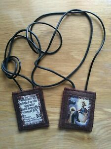 Scapular Brown /Hard Wearing /Woollen / Made by Melody