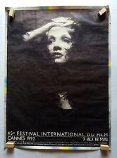 Original Poster Cannes Festival 1992 Marlene Dietrich, Vintage,  116 x 156 cm