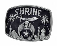 Masonic Shriners Belt Buckle / Freemasons Buckle - Steel Black Shrine Design