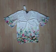 a5d3d1e6731f1d Brand New White Lace Floral Short Sleeve Wrap Blouse/Top from Lipsy Size 10