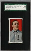 Rare 1909-11 T206 Jimmy Burke Piedmont 350 Indianapolis ML SGC 80 / 6 EX - NM