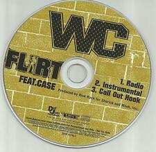 WC w/ CASE Flirt RADIO Version & INSTRUMENTAL PROMO Radio DJ CD single 2002