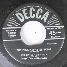 50'S Decca Nos 45 Leroy Anderson - The Penny-Whistle Song / Horse And Buggy On D
