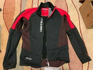 NEW Castelli Mortirolo V Cycling Jacket, Red/Black Size XL 4518505231 From Spain