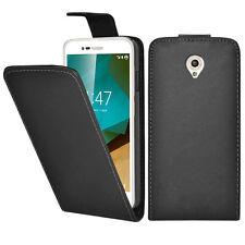Vodafone Smart Prime 7 Case Cover Black Pu Leather Flip