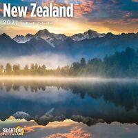 2021 New Zealand 12 x 12 Wall Calendar Travel Beautiful Destination Kiwis