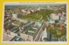 Bird's Eye View From Traveler's Tower 1940s Hartford Ct postcard Nice See!