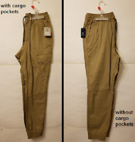 George Men's Jogger Pants Choose with or without Cargo pockets Khaki NWT
