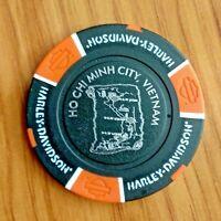 newest Vietnam Harley Davidson poker chip Sai Gon Ho Chi Minh city, black-orange