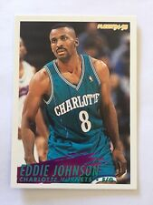 1994-95 Fleer NBA Basketball Card - Charlotte Hornets #25 Eddie Johnson
