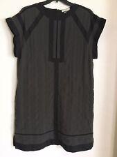 6d4ebc1eae4 ISABEL MARANT Etoile Black Grey Gauze Ritz Ramsay Tunic Top Cotton Dress 40  US 8