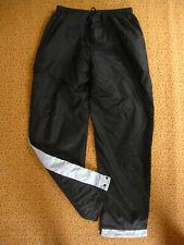 Pantalon Nike Vintage Nylon Noir gris Polyester Survetement 90'S Tracksuit - L