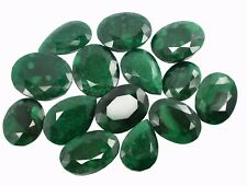 Natural 5510 Ct Colombian Green Emerald Loose Gemstone 14 Pieces real Lot