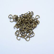 100g (900+) Antique Bronze Tone 6mm x 1mm Jump Rings Open Unsoldered