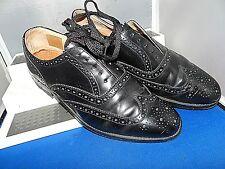 Loake-Inghilterra Classica ed Elegante Nero Scarpe Di Pelle CALATA UK 8 EU 42 US 9