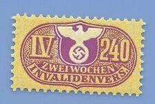 Germany Nazi Third Reich Nazi Swastika Eagle Revenue IV240 Stamp MNH WW2 ERA